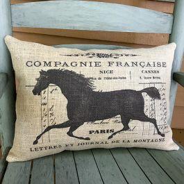 Horse Accent Lumbar Pillow