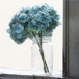 Handmade Blue 3 Stem Hydrangea Bundle