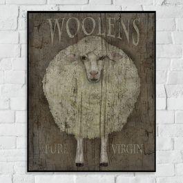 Woolens Sheep Canvas Art